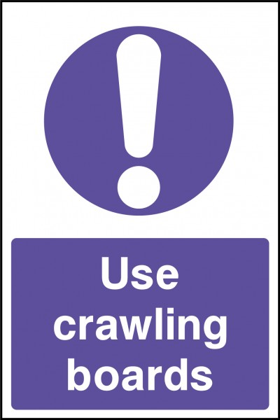 Crawling boards sign