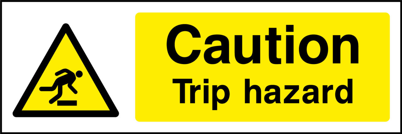 Trip Hazard Sign Health And Safety Signs