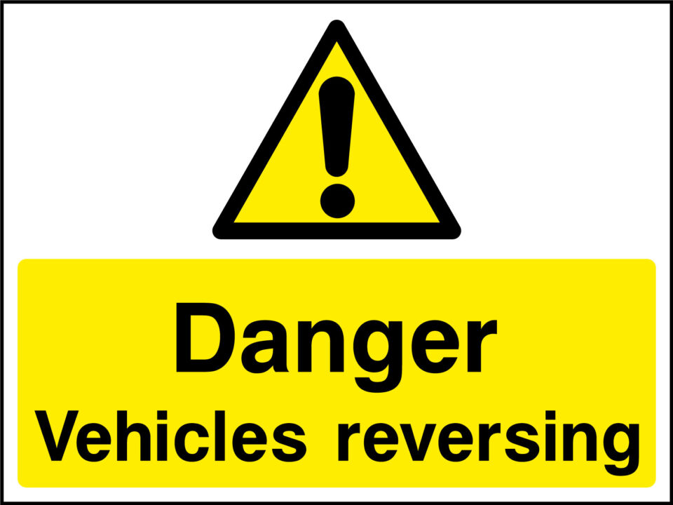 Vehicles Reversing Sign Health And Safety Signs