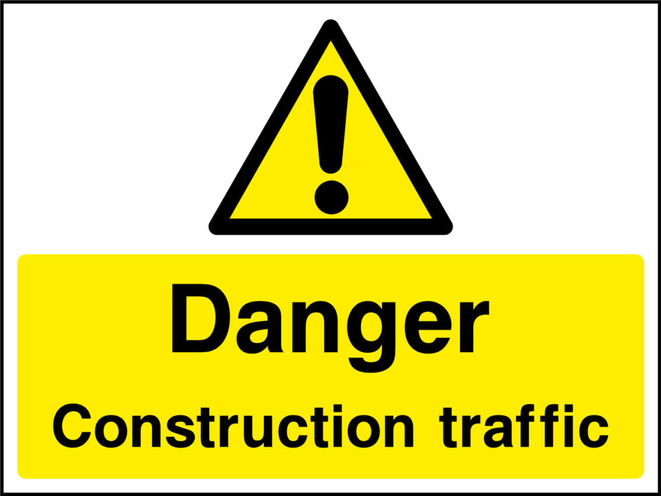 Construction Traffic Sign Health And Safety Signs