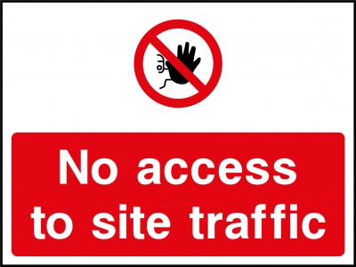Site traffic access sign