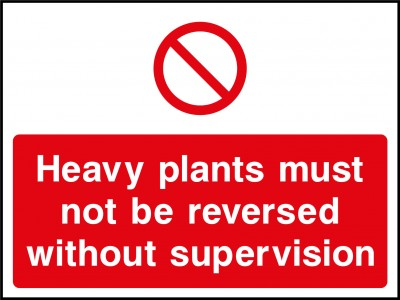 Heavy plant sign