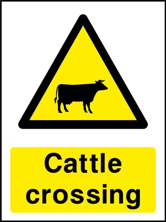 Cattle Crossing Sign Health And Safety Signs