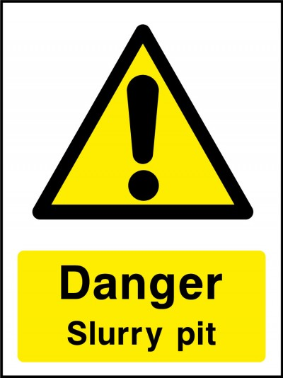 Danger slurry pit sign
