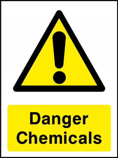 Danger chemical sign