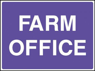 Farm office sign