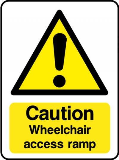 Wheelchair access ramp sign