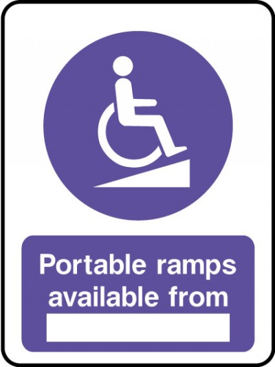 Portable ramps available sign