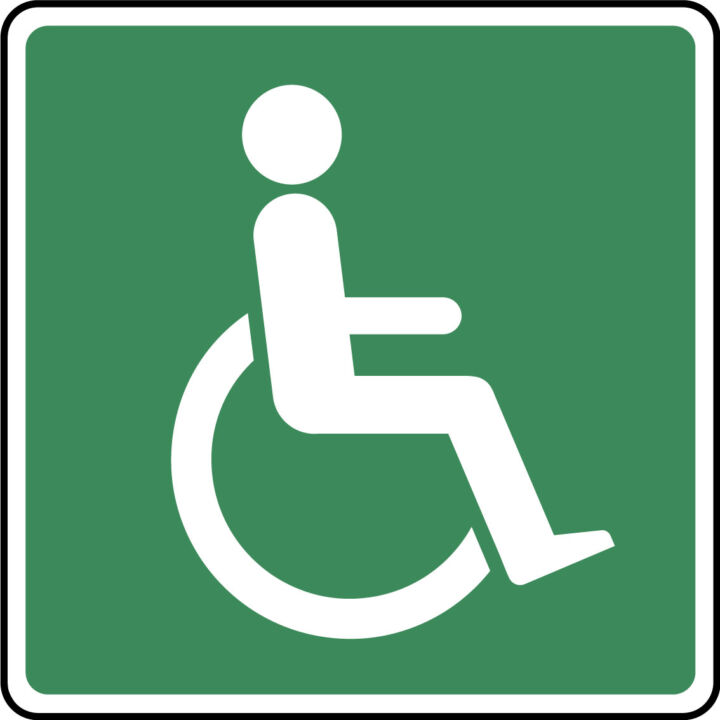 1 x Disabled Toilet WC Bathroom Sticker-Disability ...