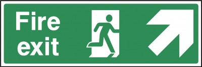 Fire Exit Up Right Sign