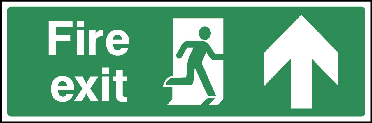 fire exit ahead sign health and safety signs