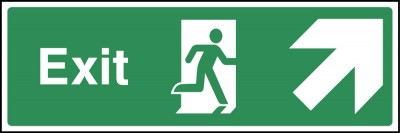 Exit up right sign