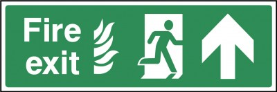 Fire exit ahead sign