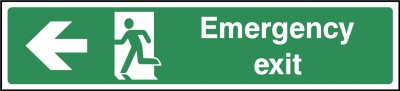 Emergency Exit Left Sign