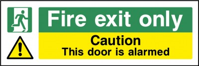 Fire Exit Alarmed Door Sign