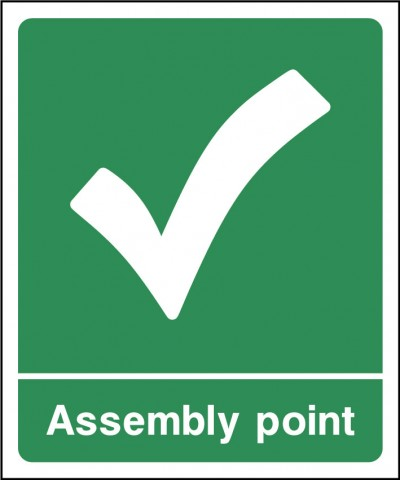 Assembley point sign