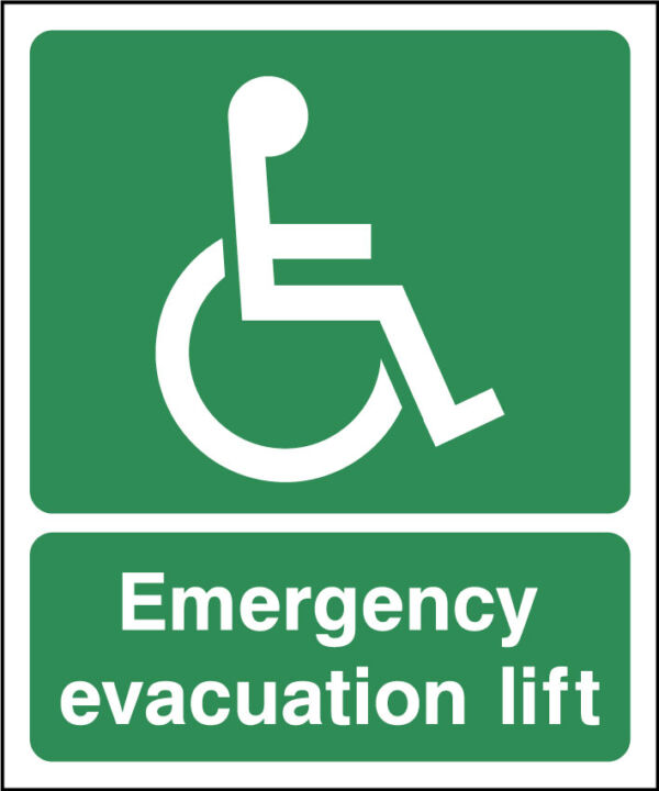 Emergency Evacuation Lift Sign Health And Safety Signs