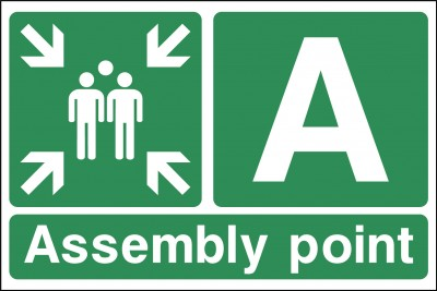 Assembley point A sign