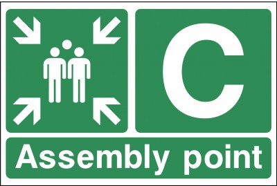 Assembley point C sign
