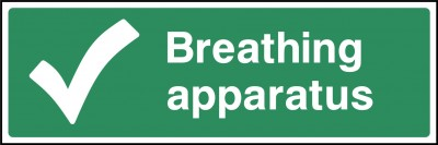 First aid breathing apparatus sign
