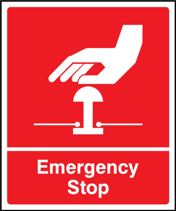 Emergency Stop Sign Health And Safety Signs