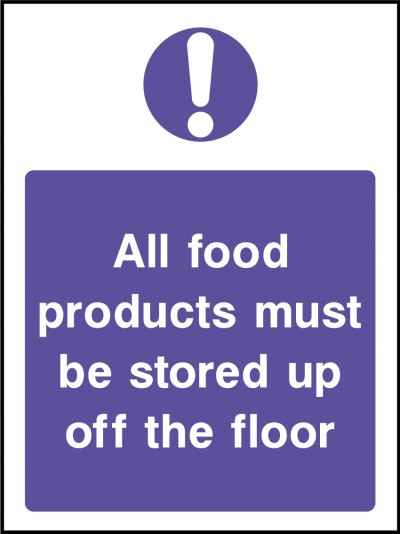 Food product storage sign