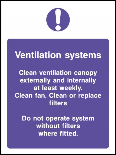 Ventilation systems sign