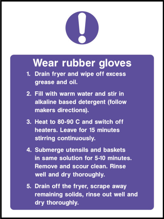 Wear Rubber Gloves Sign Health And Safety Signs
