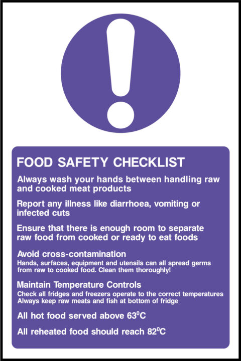 Kitchen Procedures Sign Health And Safety Signs