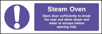 Steam oven sign