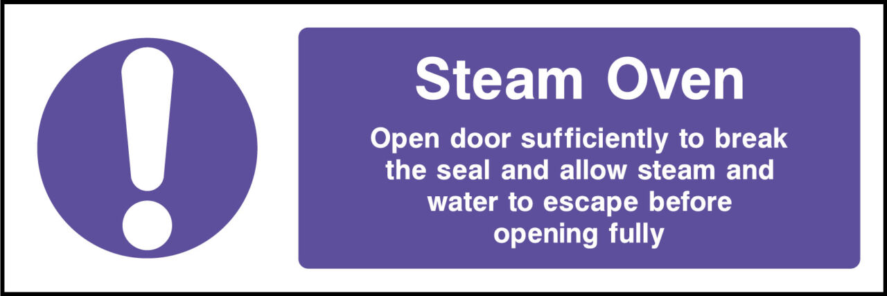 Steam Oven Sign Health And Safety Signs