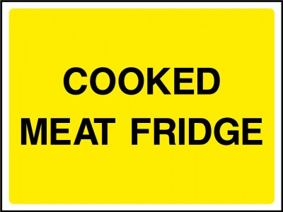 Cooked meats fridge