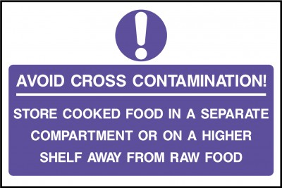 Avoid cross contaminations sign