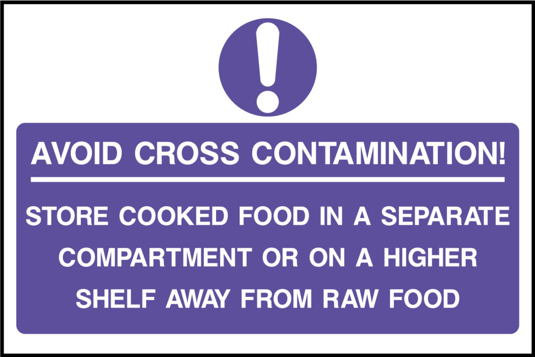 Avoid Cross Contaminations Sign Health And Safety Signs