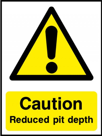 Reduced pit depth sign