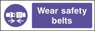 Safety belts sign