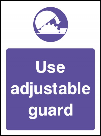 Adjustable guards sign