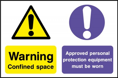Confined space PPE must be worn