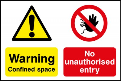 Confined space no entry sign