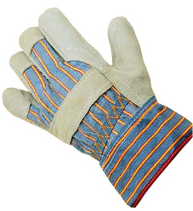 Keep clean canadian rigger style split leather gloves