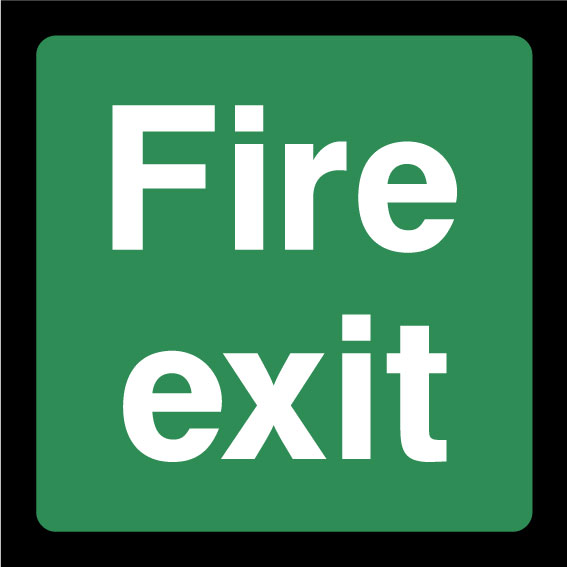 Fire exit & Emergency escape signs