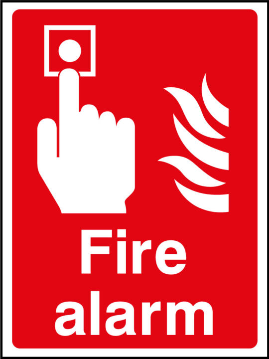 Fire Alarm Sign Health And Safety Signs