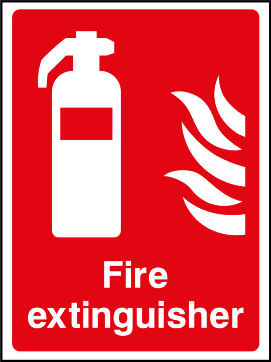 fire extinguisher sign health and safety signs