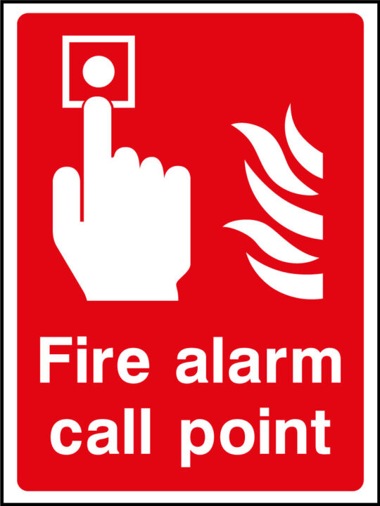 Fire Alarm Call Point Sign Health And Safety Signs