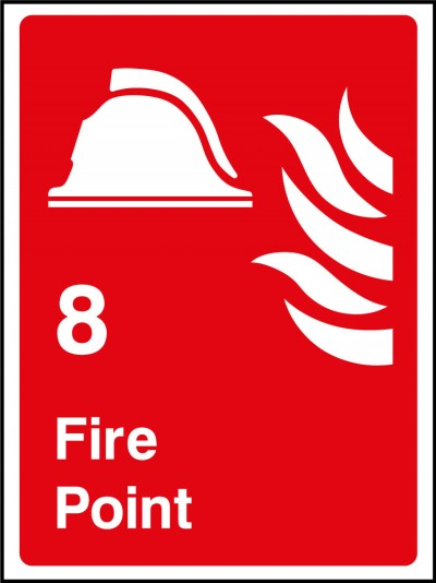 Fire point 8 sign