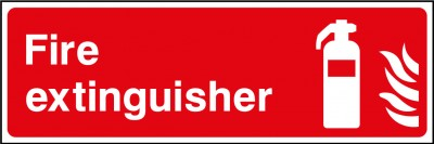 Fire extinguisher sign