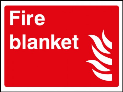 Small Fire Blanket Sign