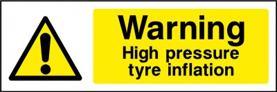 Tyre inflation sign