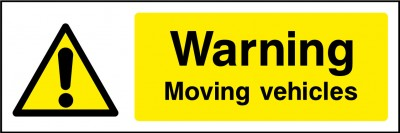 Moving vehicles sign