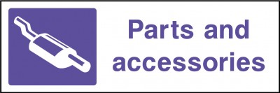 Parts and accessories sign
